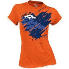 Reebok Denver Broncos Ladies Splash of Love Cap Sleeve ...