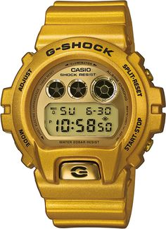 CASIO G-SHOCK DW-6900GD-9ER MEN'S WATCH. Fitting a watch is of course no problem, however, the watch strap should not be broken or bent out of shape. Warranty: 2 years. Case Diameter: 50 mm. Dial Colour: Gold. | eBay!