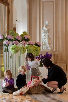 Kids are always welcomed at the Four Seasons Hotel George V!