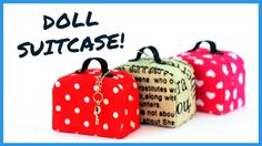 DIY - How to Make: Doll Joggers -Handmade - Clothes - Craft - How to miniature doll suitcase. in this DIY dollhouse tutorial i show how i made this cute miniature suitcase from cardboard and fabric. this suitcase is per. Dollhouse Tutorials, Diy Dollhouse, Dollhouse Miniatures, Clay Miniatures, Doll House Crafts, Doll Crafts, Dollhouse Accessories, Barbie Accessories, Ag Dolls