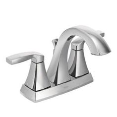 WANT: (main bath) MOEN Voss 4 in. 2-Handle Bathroom Faucet in Chrome - 6901 at The Home Depot