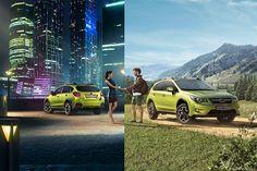 Photo manipulation process - Subaru XV 2014 Summer Campaign on Behance