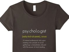 Super stylish psychology T-Shirt designed for psychologists who wish they had a dollar for every time somebody thought they could read their mind (http://www.amazon.com/dp/B016UXOG6Y). Available in a range of great colors. Only $19.99. A great gift idea for anybody who loves psychology #psychology #T-Shirt