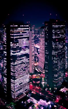 Shinjuku at Night - View from the Tokyo Metropolitan Building by Prasad Babarenda