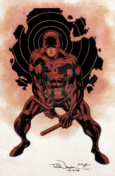 Its a redesign of Marvel's Daredevil costume. Description from deviantart.com. I searched for this on bing.com/images