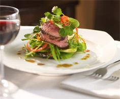 Roasted Beef Tenderloin Salad in our Main Dining Room. #RoyalCaribbean #cruising