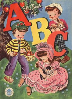 The Book of ABC.1948 Artwork by Vivian Robbins * 1500 free paper dolls The International Paper Doll Society @QuanYin5 #QuanYin5 Arielle Gabriel artist *