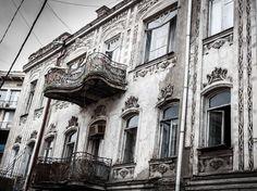 ART NOUVEAU balconies on Rome street Tbilisi, Georgia
