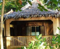 Bamboo Bungalow/huts #THAI #HOMES Bamboo House Design, Bamboo Architecture, Beach Bungalows, Types Of Houses, Humble Abode, Lodges, Home Art, Gazebo, Outdoor Structures