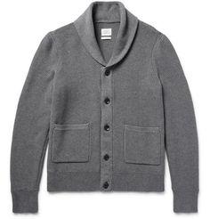 RAG & BONE Avery Shawl-Collar Textured-Knit Cotton Cardigan. #ragbone #cloth #knitwear
