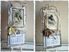 Elins Hobbykrok: Godt Nytt År 2015 Collage, Wedding 2015, Old Books, Altered Books, Hobbies And Crafts, Vintage Cards, Mixed Media Art, 9 And 10, Scrapbook Pages