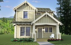 3 Bed Craftsman with Gabled Front Porch - 14629RK | Craftsman, Northwest, Narrow Lot, 2nd Floor Master Suite, Butler Walk-in Pantry, CAD Available, Den-Office-Library-Study, PDF | Architectural Designs