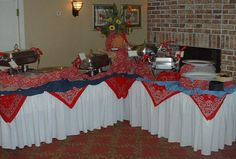 cowboy wedding decoration ideas   Creative Catering by the Farinas - Western Themes