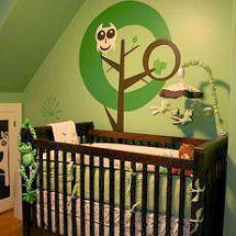 green owl wall decal