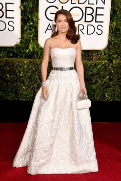 All of the chicest red carpet arrivals from the Golden Globes: Salma Hayek