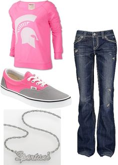 The sweatshirt or shoes from this outfit!