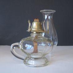 Vintage Kerosene Glass Finger Lamp by SugarLMtnAntqs on Etsy