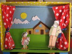 Stick puppet theater