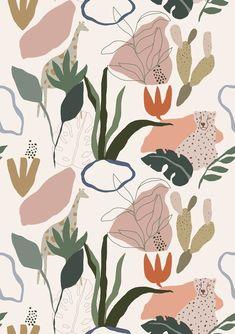 Tapete Safari Bright– Roomblush Bbq Area, True Nature, Kidsroom, Dusk, Bright, Scandinavian, Rooster, Safari, Prints
