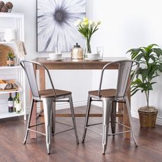 Shop for Tabouret Bistro Wood Seat Gunmetal Finish Counter Stools (Set of 2). Get free shipping at Overstock.com - Your Online Furniture Outlet Store! Get 5% in rewards with Club O!