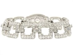 Art Deco Diamond Bracelet in Platinum #504907