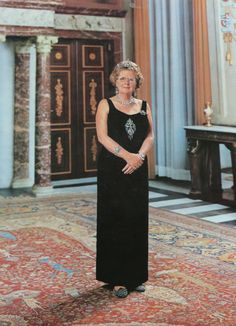 Official portrait  of Queen Juliana. Don't know the year