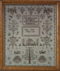 Antique Sampler, 1837, by Anne Lumley | ID#21306 | Madelena