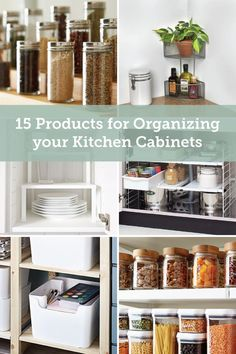 15 Ways to Guarantee You'll Keep Your Kitchen Cabinets Organized