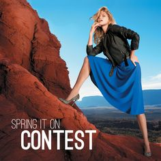 Double click on the image to enter our Spring it On Contest on Pinterest for a chance to win 1 of 3 $100 Dynamite gift cards! Spring Outfits, Spring Clothes, Spring Is Coming, My Spring, Dear Santa, Spring Fashion, Style Me, Gift Cards, How To Wear
