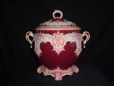 French Faience Two-Handled, Gilded  and Lidded Soup Tureen,  C. 1890