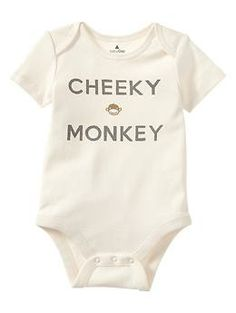 @Carrie Mcknelly Freeman We need one for Luca, Wyatt and Sam!!! Cheeky graphic bodysuit | Gap