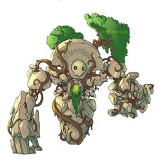 Root Golem by ~Xythanon on deviantART
