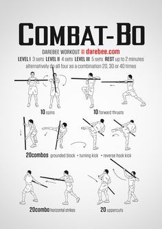 Awesome workout for any Kobudo or other staff trainers. Darebee has some great workouts. Martial Arts Techniques, Self Defense Techniques, Kung Fu Techniques, Combat Training, Staff Training, Martial Arts Workout, Martial Arts Training, Boxing Workout, Judo