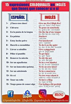 Spanish Grammar, Spanish Words, Spanish Language Learning, English Vocabulary Words, English Phrases, Learn English Words, Teaching Spanish, English Lessons, Teaching English