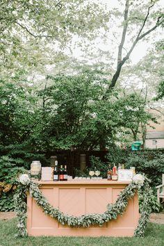 Centerpiece Ideas, Centerpieces, Pink Bar, Greenery Garland, Wedding Decorations, Table Decorations, Summer Wedding, Floral Design, Reception
