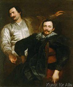 Lucas (stehend) et Cornelis de Wael, par Anthony van Dyck