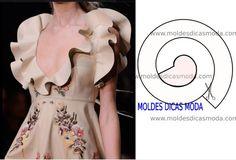 ba4f8d2d47 Resultado de imagen de moldes de volantes de caracolillos Pattern Cutting,  Pattern Making, Coat