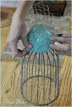 Chicken Wire Cloche - All Things Heart and Home
