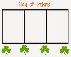 printable ireland flag coloring page for st patricks day the chirping moms