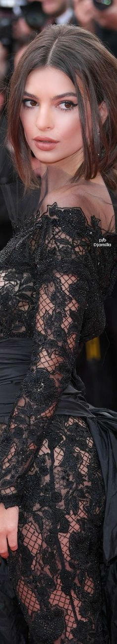 Emily Ratajkowski In a Peter Dundas Custom ensemble at Cannes Film Festival, 2017.