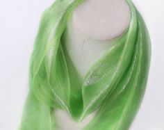Neon Green Long Head scarf, Gift for Teen, Holiday gifts, Gift for Teacher, Office gift, Workout headband, Wedding sash, Flower girl sash by blingscarves. Explore more products on http://blingscarves.etsy.com