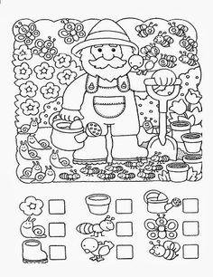 123 Manía: actividades de matemática para imprimir, resolver y colorear - Betiana 1 - Álbuns da web do Picasa Kindergarten Math, Teaching Math, Math Games, Preschool Activities, Hidden Pictures, Math For Kids, Preschool Worksheets, Pre School, Fun Learning