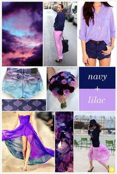 Navy and lilac. Such a sweet combination.