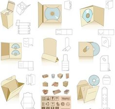 200+ Packaging Templates Vector Graphics