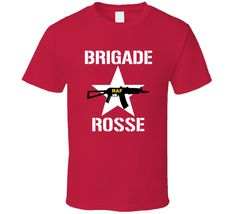 Get this Red Brigade Rosse Joe Strummer The Clash Music Fan T Shirt today which is available on a Cotton shirt. The shirt makes a perfect gift for all ages groups Joe Strummer, The Clash, Shirt Price, Shirt Style, Fan, Music, Cotton, Mens Tops, T Shirt
