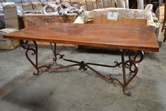 wrought iron dining table
