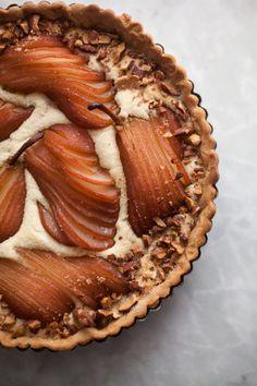 Pear Almond Tart Recipe for Thanksgiving | ZoëBakes | eat dessert first