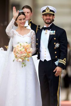 This is what it looks like to become a princess. Sweden's Prince Carl Philip and Sofia Hellqvist tied the knot in the chapel of the Royal Palace in Stockholm on Saturday—and it was in epic style. See all the big day's photos.