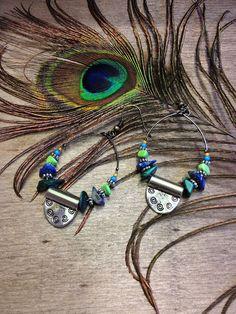 Bohemian style earrings #bohemian #earrings #feather