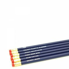 hipster pencils